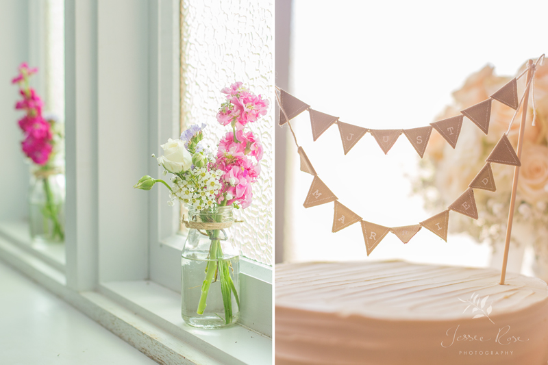 wedding-reception-cake-bunting