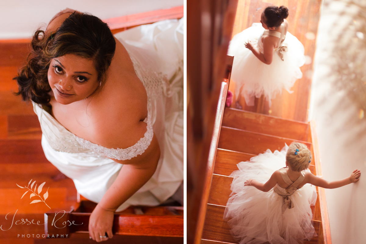 bride-flower-girls