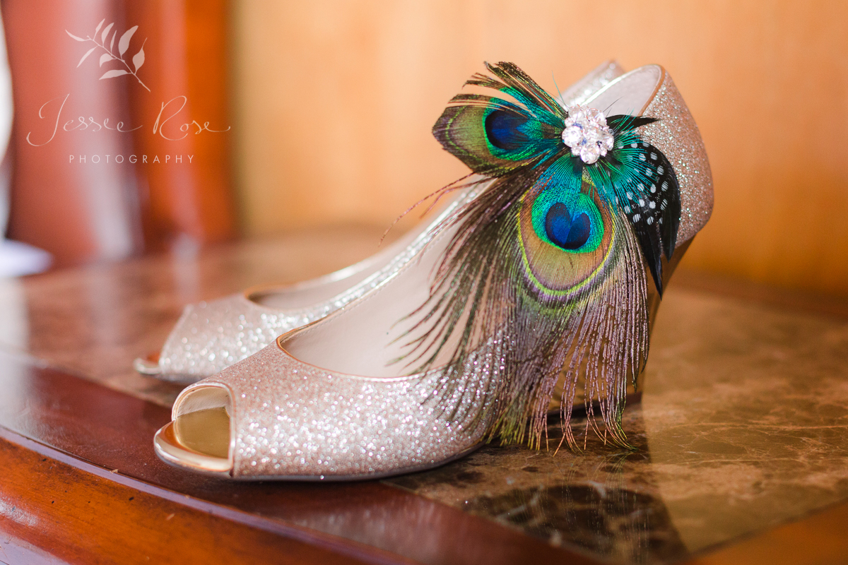 peacock-theme-wedding-glitter-shoes