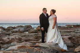 Angelina & Charlie's Beach Sunset Wedding Portraits